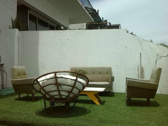 Renaca Beach Hostel : Terraza