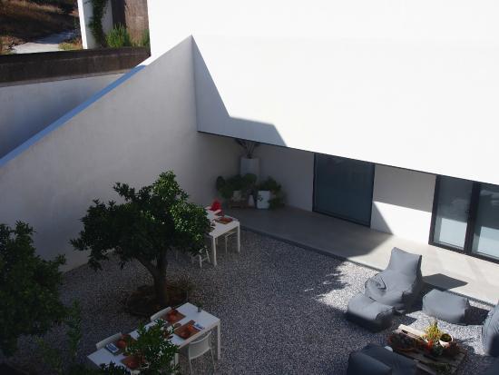 Villa Extramuros : petit déjeuner au patio