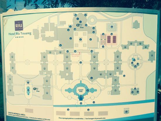 The hotel map - Bild von Hotel Riu Touareg, Santa Monica ...