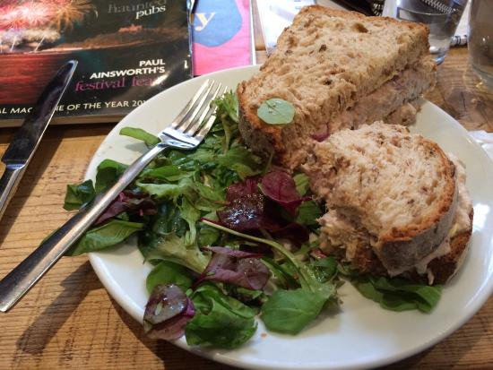 Charlie's Coffee House: Tuna sandwich with red onion Lovely