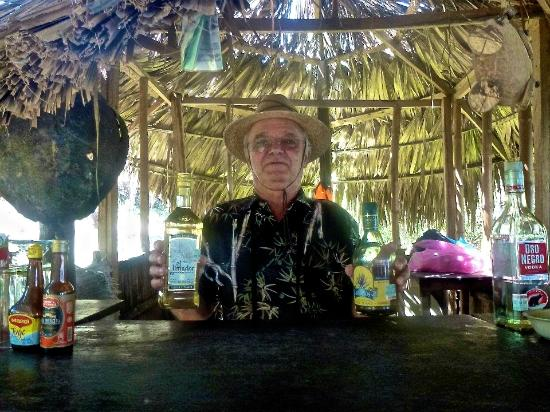 Laguna de Tres Palos: Zdravko  enjoying a drink