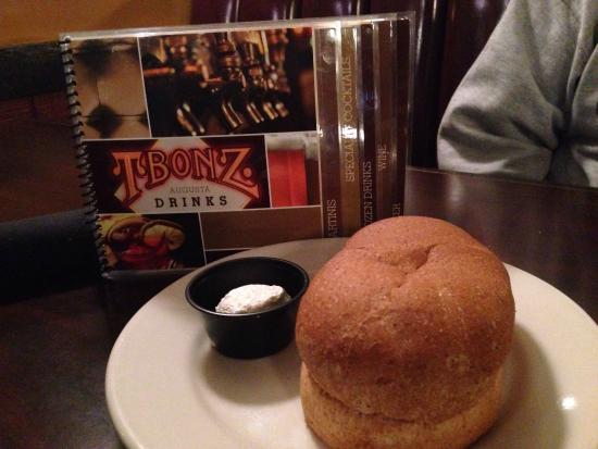 T Bonz Steakhouse of Augusta: Wheat bread at TBonz!