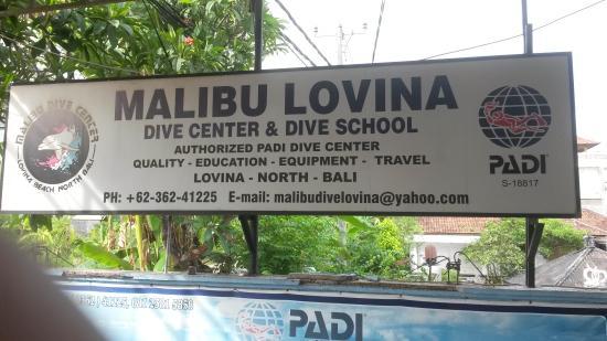 Malibu dive center
