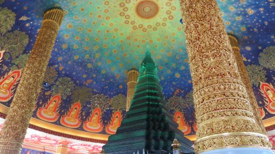 Inside The Top Of The Wat Paknam Bhasicharoen Stupa