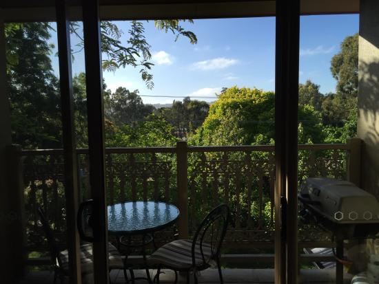 Amble at Hahndorf: View from front balcony