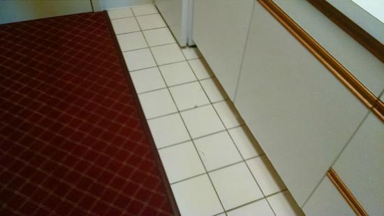 Extended Stay America - Minneapolis - Airport - Eagan - North: The kitchenette floor. Some cracking tiles.
