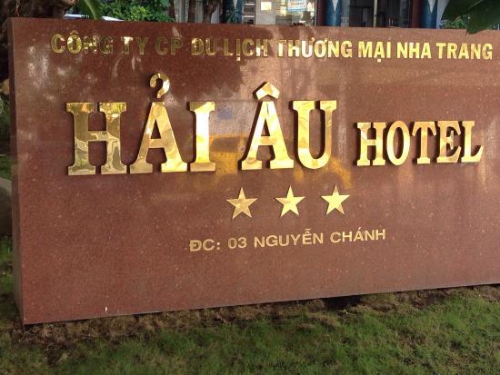 Hai Au Hotel: ホテルの看板