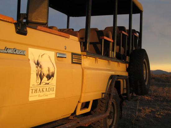 Thakadu River Camp : Game Drive with Sunset