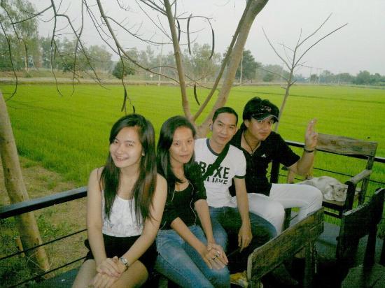 Baan Suan Mae La Ka Rong: กลุ่มเพื่อนๆ ชื่นชอบ เพราะได้นั่งกินไปด้วยชมทุ่งนา เขียวขจีไปด้วย