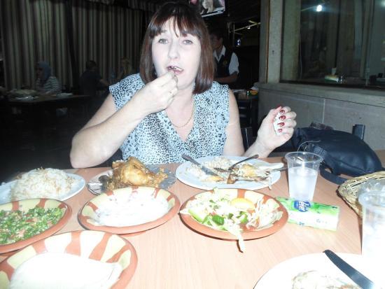 El Masrien Grill Restaurant : The sister enjoying her chicken!