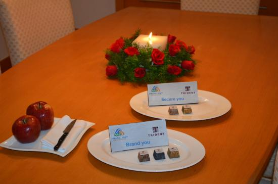 Trident, Chennai : What a welcome with co-branded chocolates!