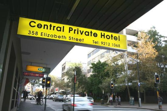Central Private Hotel : Front in Elizabeth Street opposite Sydney Dental Hospital