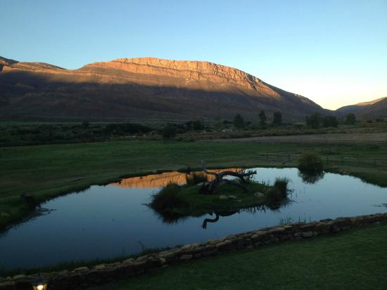 Mount Ceder Guest Cottages: view from the restaurant patio