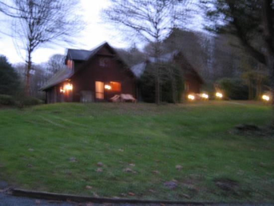 Clowance Estate : Lodges at Clownace early morning