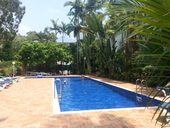 Agincourt Beachfront Apartments: The pool.