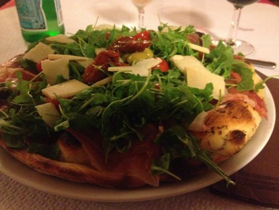 Ristorante Paradiso: Pizza blanche au jambon cru