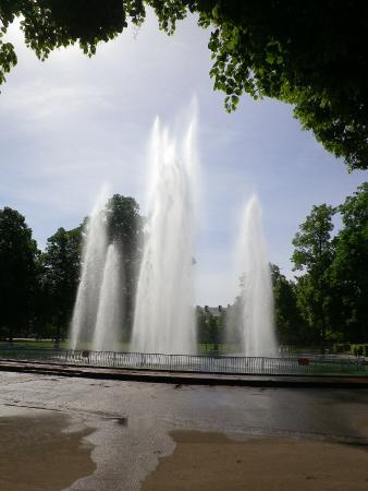Parc de la Pépinière : Le jet d'eau