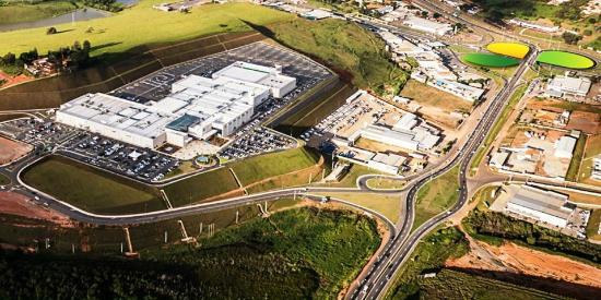 Pouso Alegre, MG: SerraSul Shopping visto de cima