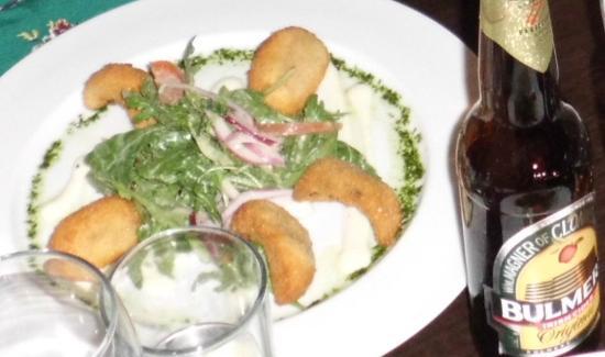 Cafe Carlo: Gefrituurde champignons