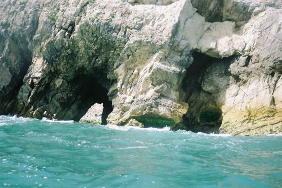 Jurassic Coast Activities: Kayaking through the caves along the way.