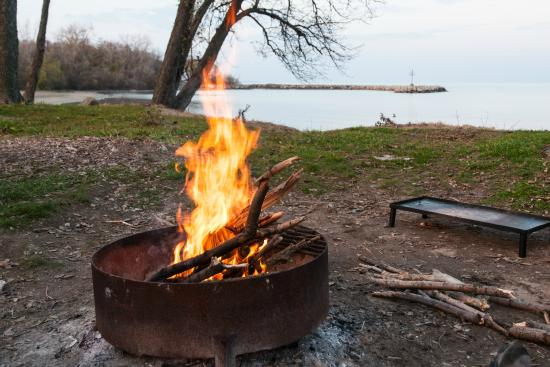 A Campfire to Prepare Dinner - Picture of Kelleys Island State Park on kelley's island state park campsite map, kelleys island ohio, south bass island state park campground map, kelleys island yurt, kelleys island art,