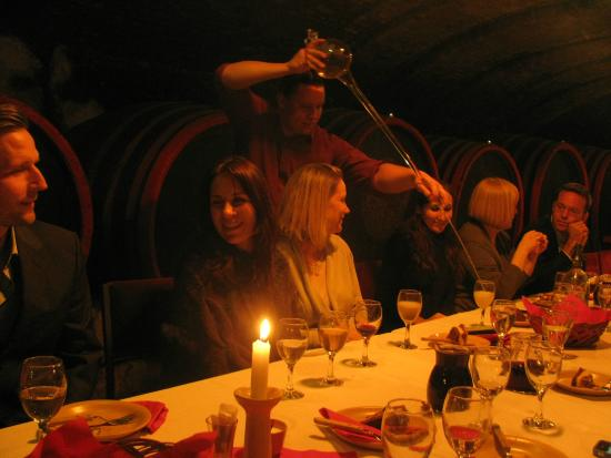 Budapest Wine Tasting Tours: Serving wine the old way