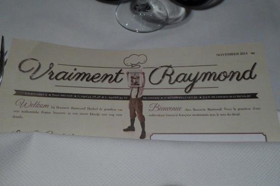 Brasserie Raymond: Menuekarte