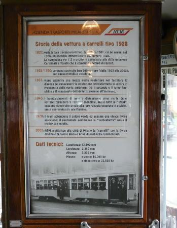 Tram Turistico : A Brief History of the old trams - in Italian - on board the vehicle