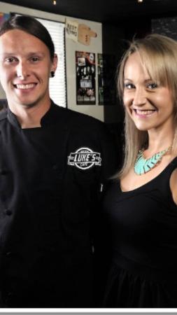 Luke and Amanda Patterson owners of Luke's Cafe