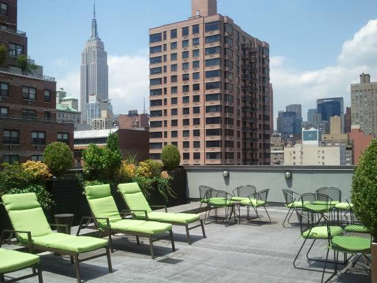 The Marcel at Gramercy: Empire State Building from Roof Top Patio
