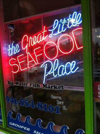 Big Water Fish Market: Window sign!