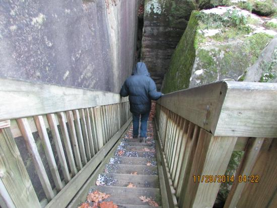 Rim Rock Recreational Area: stairway down to the water