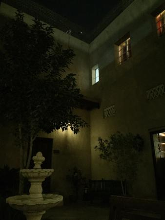 Orient Guest House : View from patio at night