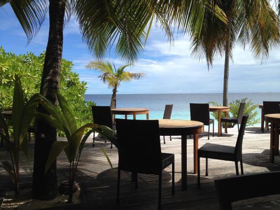 Mirihi Island Resort : Blick vom Restaurant