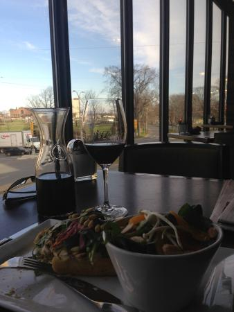Seasons by Atlantica: Wonderful lunch overlooking our Halifax Common (sorry it's dark, it's with my phone)