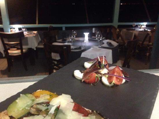 L'Effet Mer: Tartine légumes grillés,mozza fumée