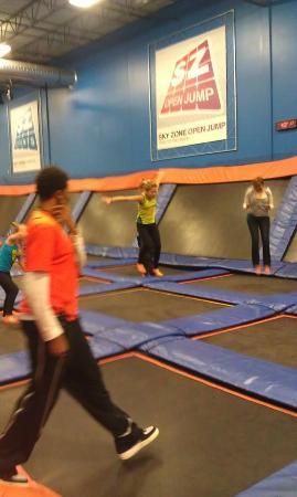 Sky Zone Trampoline Park-Columbus: Faith Jumping
