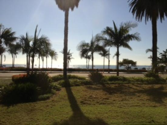 Cabrillo Inn at the Beach: View from our hotel room on the first floor.    Can't get any better than this for the price.