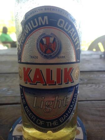 Cleveland's Beach Club: Bahamian Beer!!!