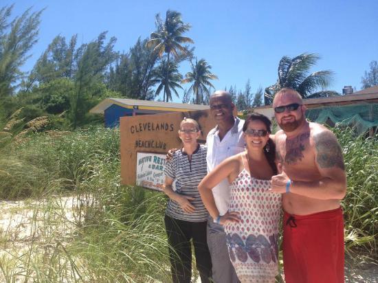Cleveland's Beach Club: Mr & Mrs Cleveland and my husband and I