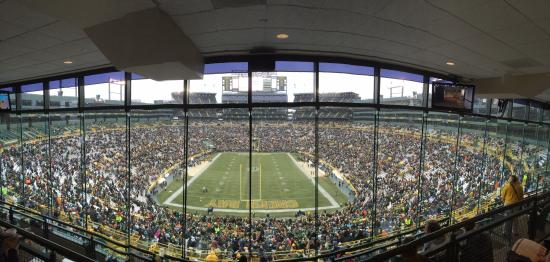 lambeau field view from the north end zone