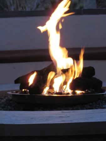 Four Seasons Resort Rancho Encantado Santa Fe: firepit at sunset is always roaring