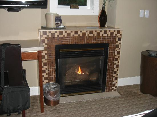 Maritime Inn: Fireplace