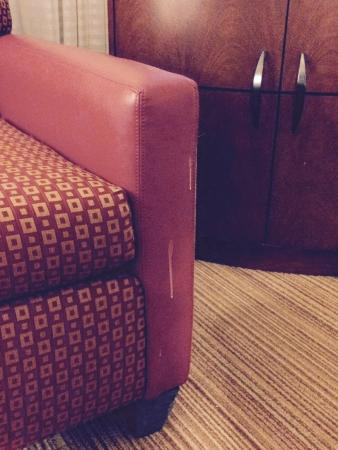 Residence Inn Fort Collins: This goo was on the chair from day one and never cleaned off.