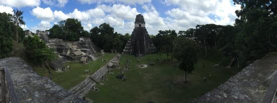 Pacz Tours: A view of the Grand Plaza at Tikal
