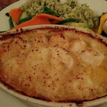 The Anchor: Anchor scallops - even the rice was good!