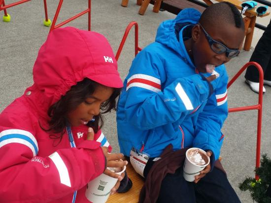 The Loft at the Mountain Village: do not miss the cocoa with whipped cream at the ice rink