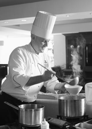 Hilton La Jolla Torrey Pines: Chef Dave serves lobster bisque