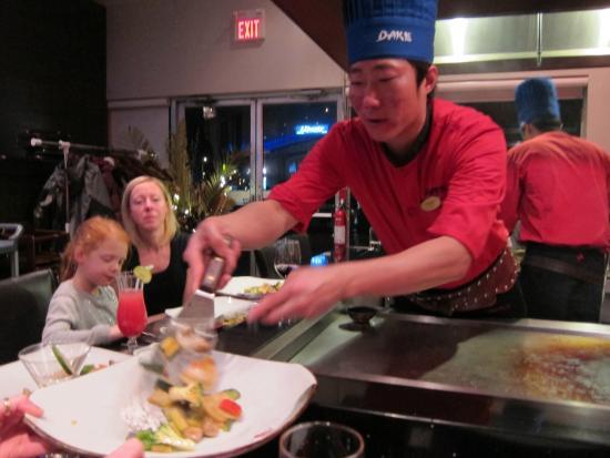Dake Fusion Restaurant: Dan the excellent cook