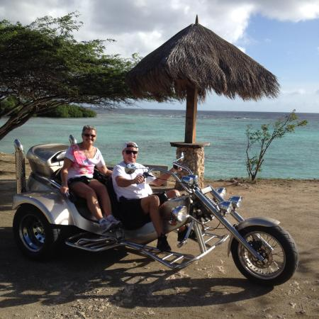 Mom Taking Picture On Tour Trikes Aruba Palm Eagle